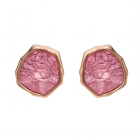 Náušnice Mimi Purple Stone Rosegold