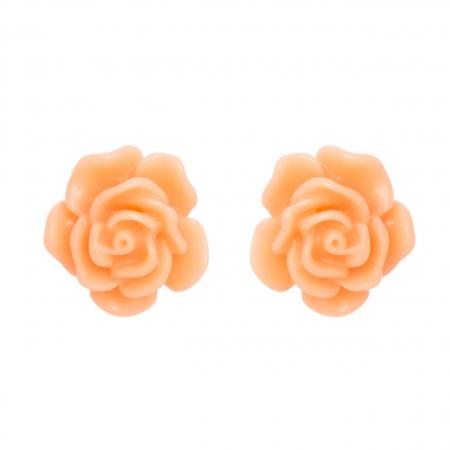 Náušnice Stone Flower Peach Post