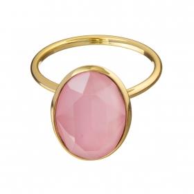 Prsteň Fine Exclusive Elegance Matt Pink Stone Gold
