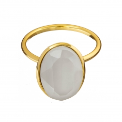 Prsteň Fine Exclusive Elegance Matt White Stone Gold