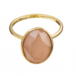 Prsteň Fine Exclusive Elegance Matt Peach Stone Gold