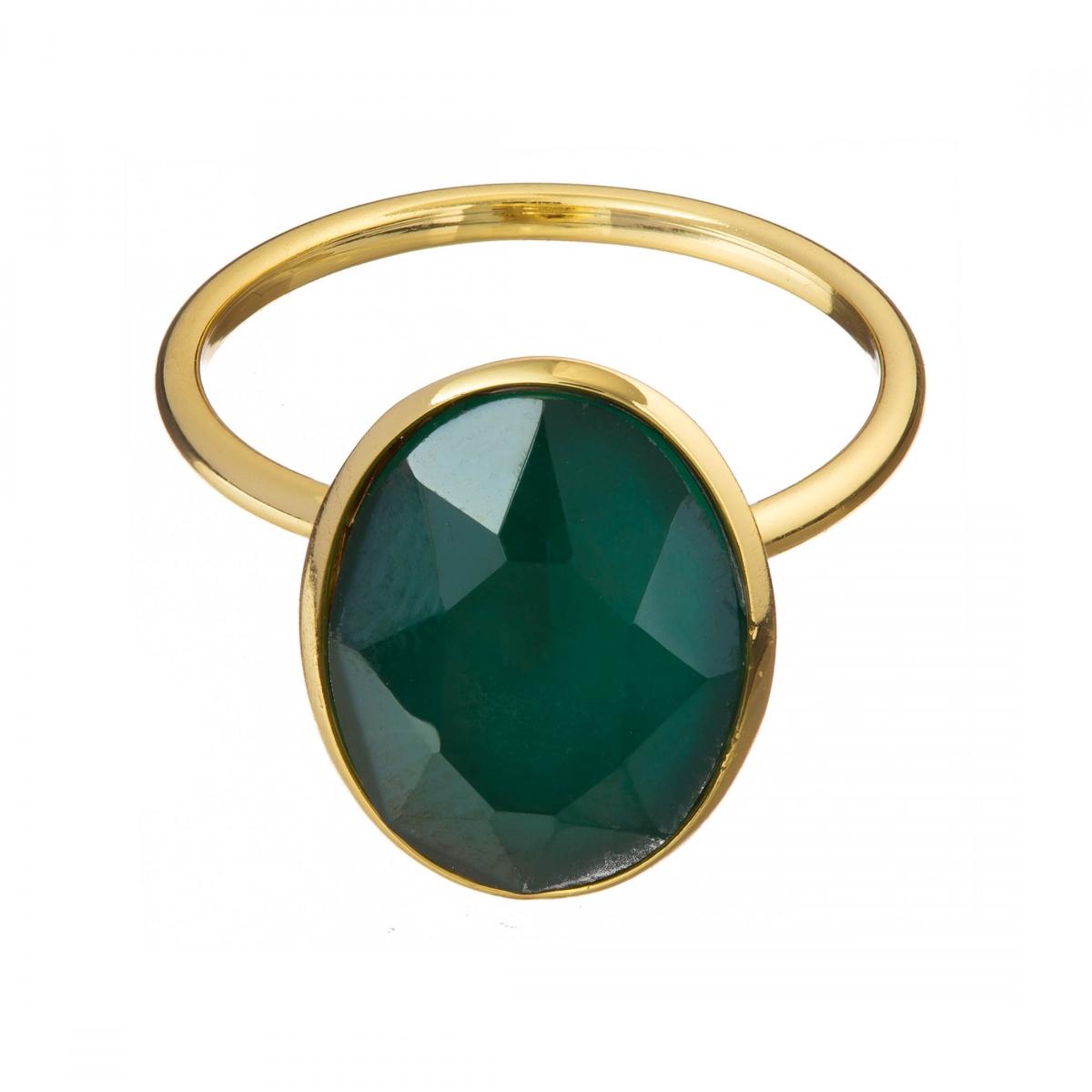 Prsteň Fine Exclusive Elegance Matt Smaragd Green Stone Gold