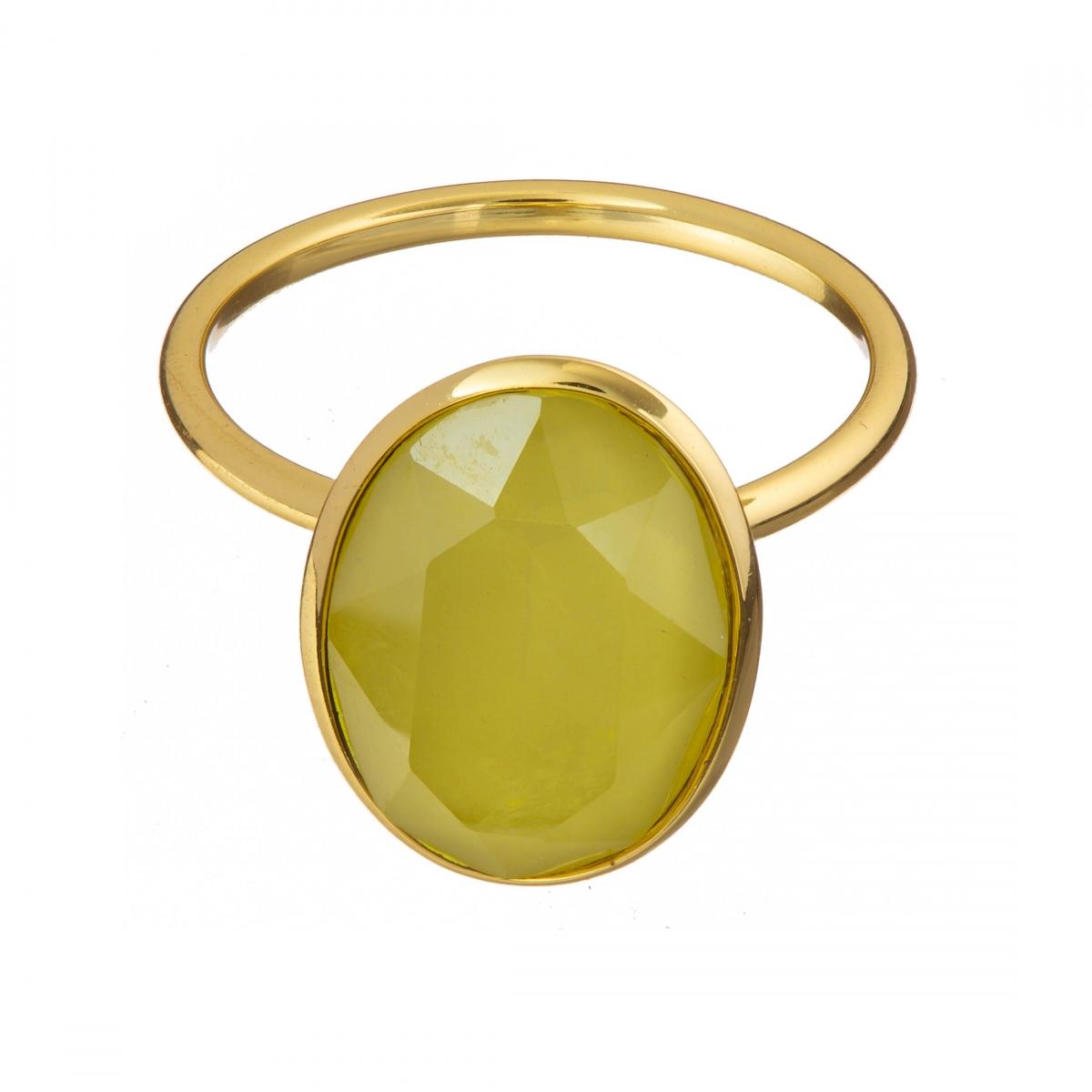 Prsteň Fine Exclusive Elegance Matt Yellow Stone Gold
