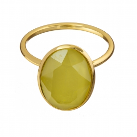 Prsteň Fine Exclusive Elegance Matt Yellow Stone Gold