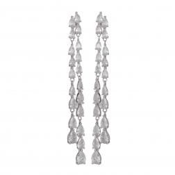 Náušnice Helena Fine Exclusive Elegance Zircon Crystals Silver