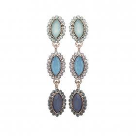 Náušnice Elise Fine Exclusive Elegance Blue Crystals Silver