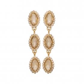 Náušnice Elise Fine Exclusive Elegance Crystals Gold