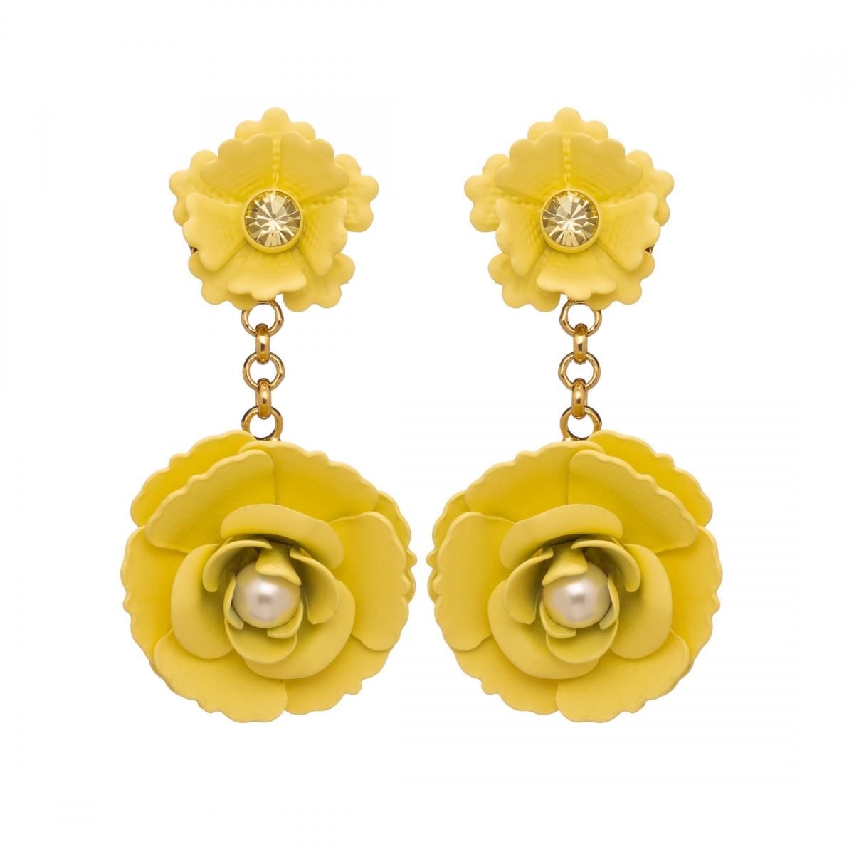 Náušnice Lena Simple Rose Garden Yellow Gold