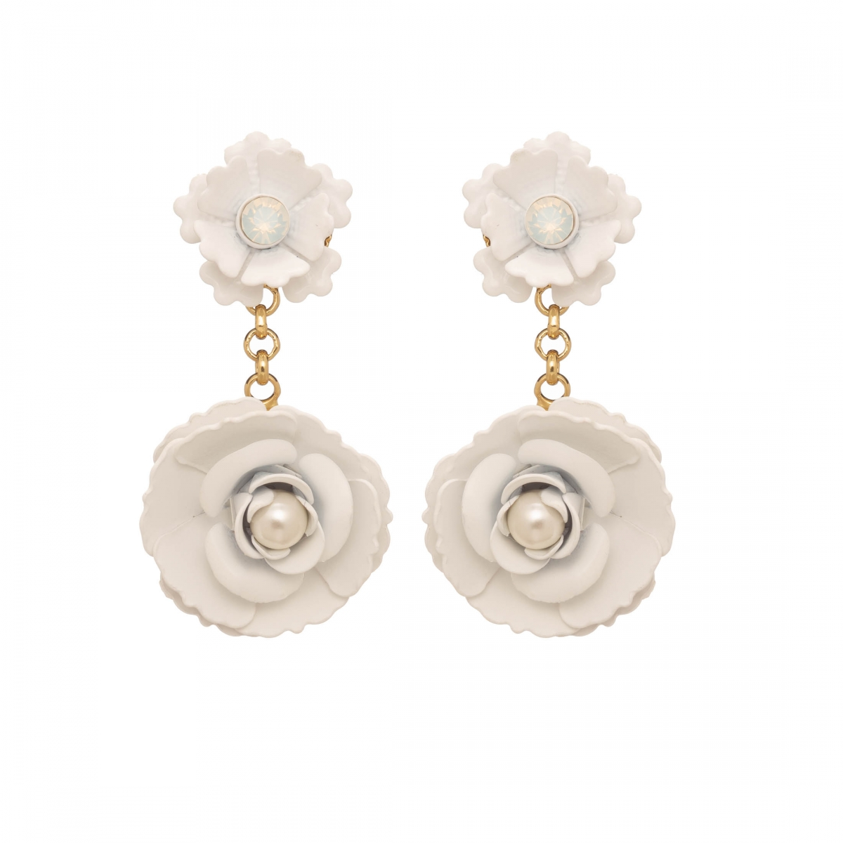 Náušnice Lena Simple Rose Garden White Gold