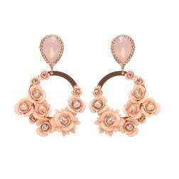 Náušnice Serena Exclusive Rose Garden Pink Rose Gold