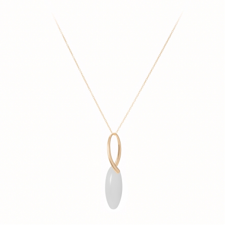 Náhrdelník Fine Exclusive Elegance Long Simple Drop White Gold