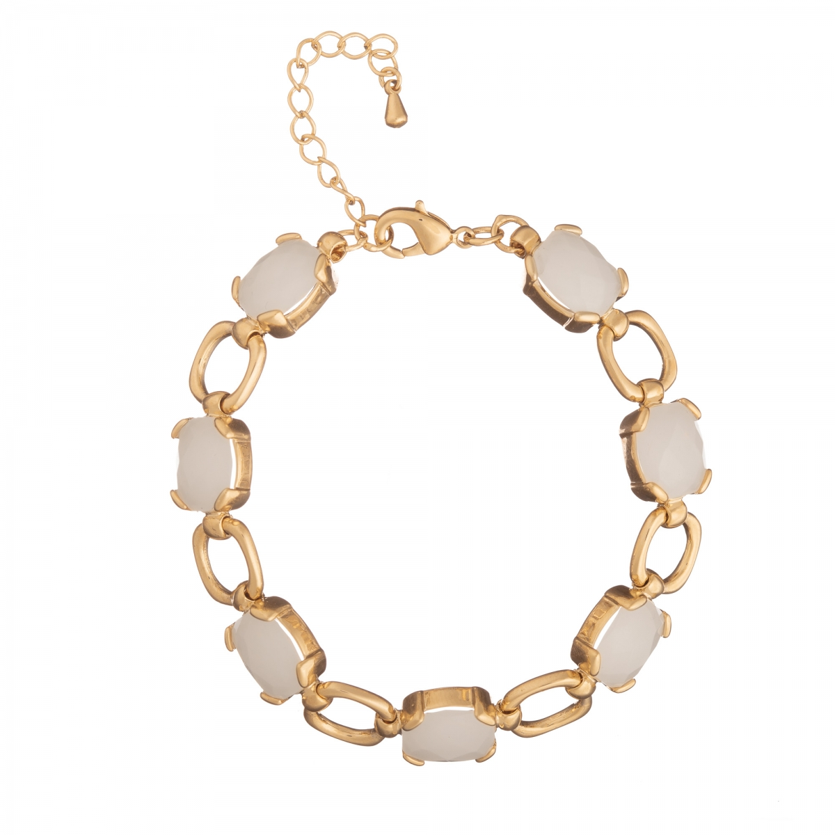 Náramok Fine Exclusive Elegance Resin Stones White Gold