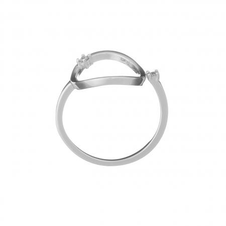 Prsteň Modern Circle Zircon Silver