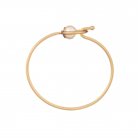 Náramok Fine Minimalistic Circle Pearl Gold