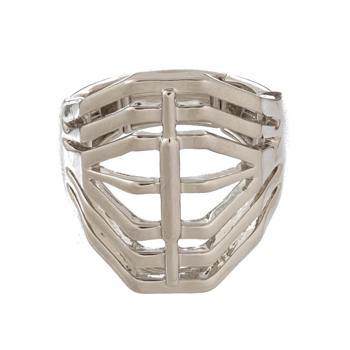 Prsteň Design Rhodium Elastic