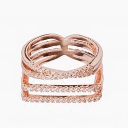 Prsteň Modern Zircon Rosegold