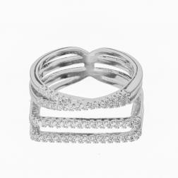 Prsteň Modern Zircon Silver
