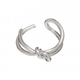 Prsteň Minimalistic Modern Silver Metal