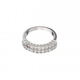 Prsteň Olive Fine Exclusive Elegance Zircon Crystals Silver