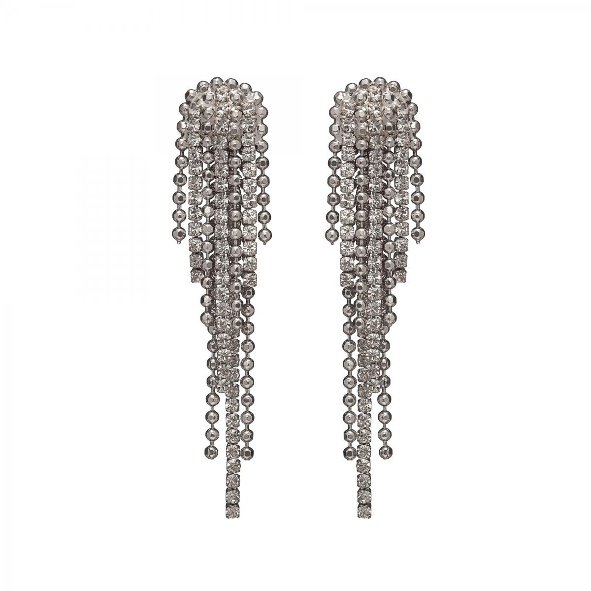 Náušnice Allison Exclusive Elegance Silver Crystals Shine