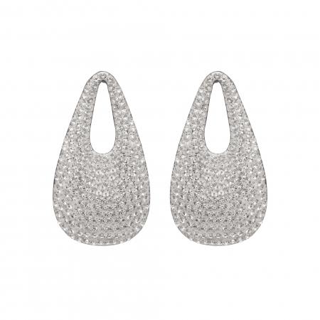 Náušnice Sasha White Silver Stellux Crystals