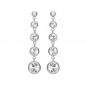 Náušnice Enna Fine Elegance Swarovski Crystals  Silver