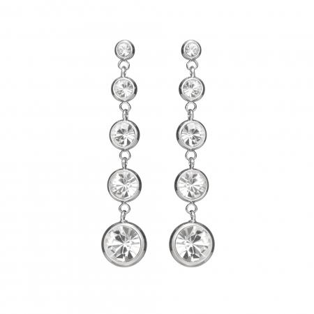 Náušnice Enna Fine Elegance Swarovski Crystals Silver 637f19840b5