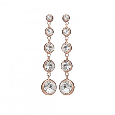 Náušnice Enna Fine Elegance Swarovski Crystals Rose Gold