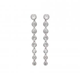 Náušnice Janel Fine Exclusive Elegance Zircon Crystals Silver