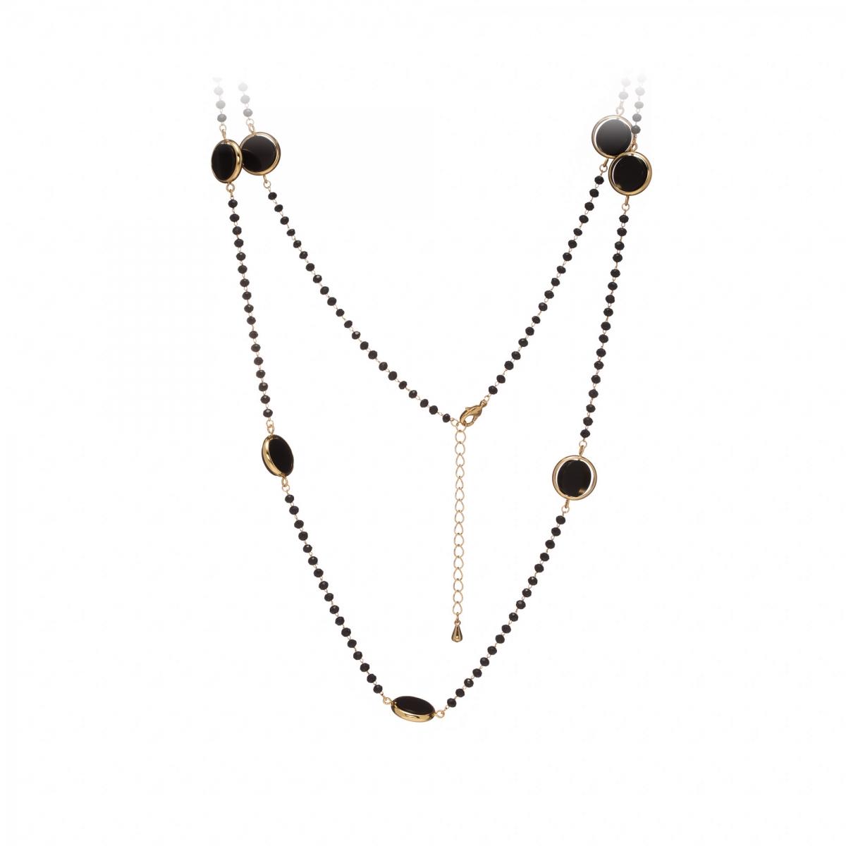 ef36b72c3 Náhrdelník Fine Elegance Mineral Black Onyx Crystals Gold ...