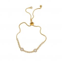 Náramok Exclusive Elegance Fine Zircon Crystals Gold