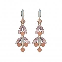 Náušnice Lilly Fine Exclusive Elegance Vintage Rose Crystals Gold
