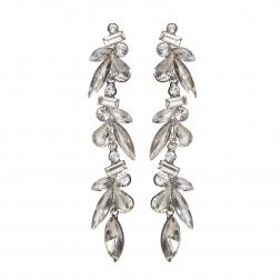 Náušnice Nina Fine Exclusive Elegance Silver Crystals Silver