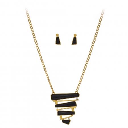 Súprava Pyramid Geometric Black Gold