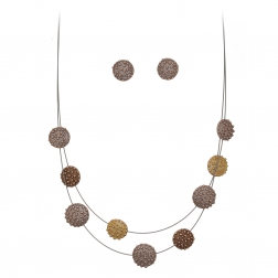 Súprava Brown - Bronze Dots Rose Gold