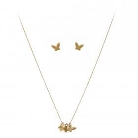 Súprava Fine Butterfly Trio Gold