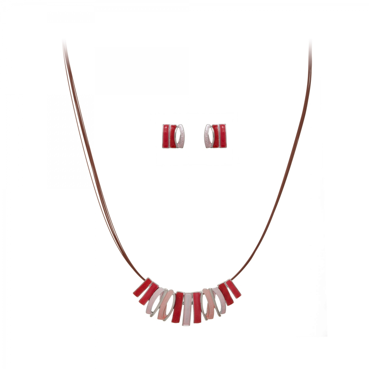 Súprava Grass Red Pink Rhodium