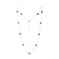 Náhrdelník Long Exclusive Elegance Baby Blue Silver