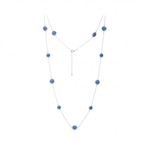 Náhrdelník Long Exclusive Elegance Blue Silver