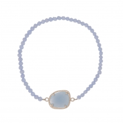 Náramok Exclusive Elegance Baby Blue Zircon Silver Elasic