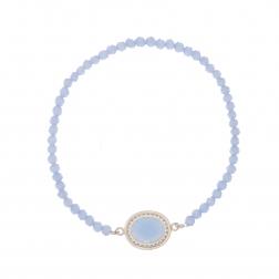 Náramok Exclusive Elegance Oval Babyblue Zircon Silver Elastic