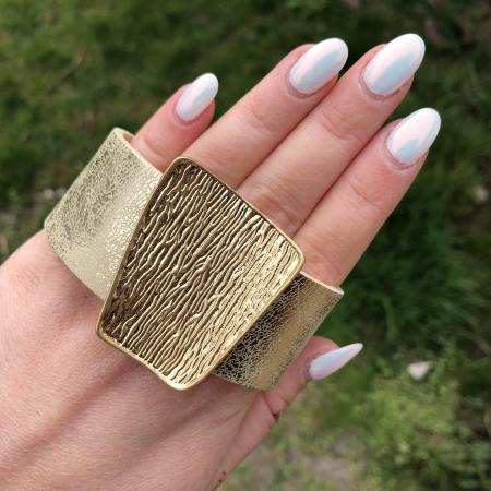 Helen náramok zlatý - eko koža
