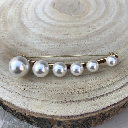 Brošňa biela riečna perla