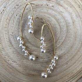 Náušnice Juicy s bielymi perlami