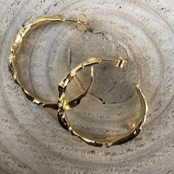 Náušnice polkruhy zlaté