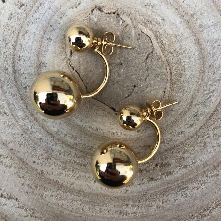 Náušnice obojstranné zlaté