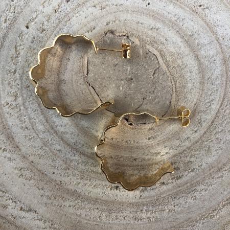 Náušnice polkruhy zlaté 2
