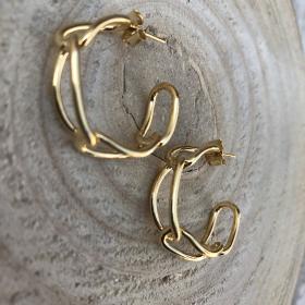Náušnice polkruhy zlaté 3