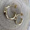 Náušnice polkruhy zlaté 1