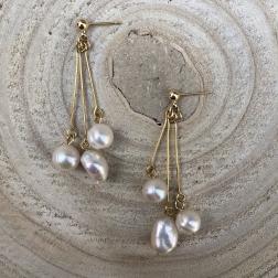 Náušnice Esma s pravými riečnymi perlami
